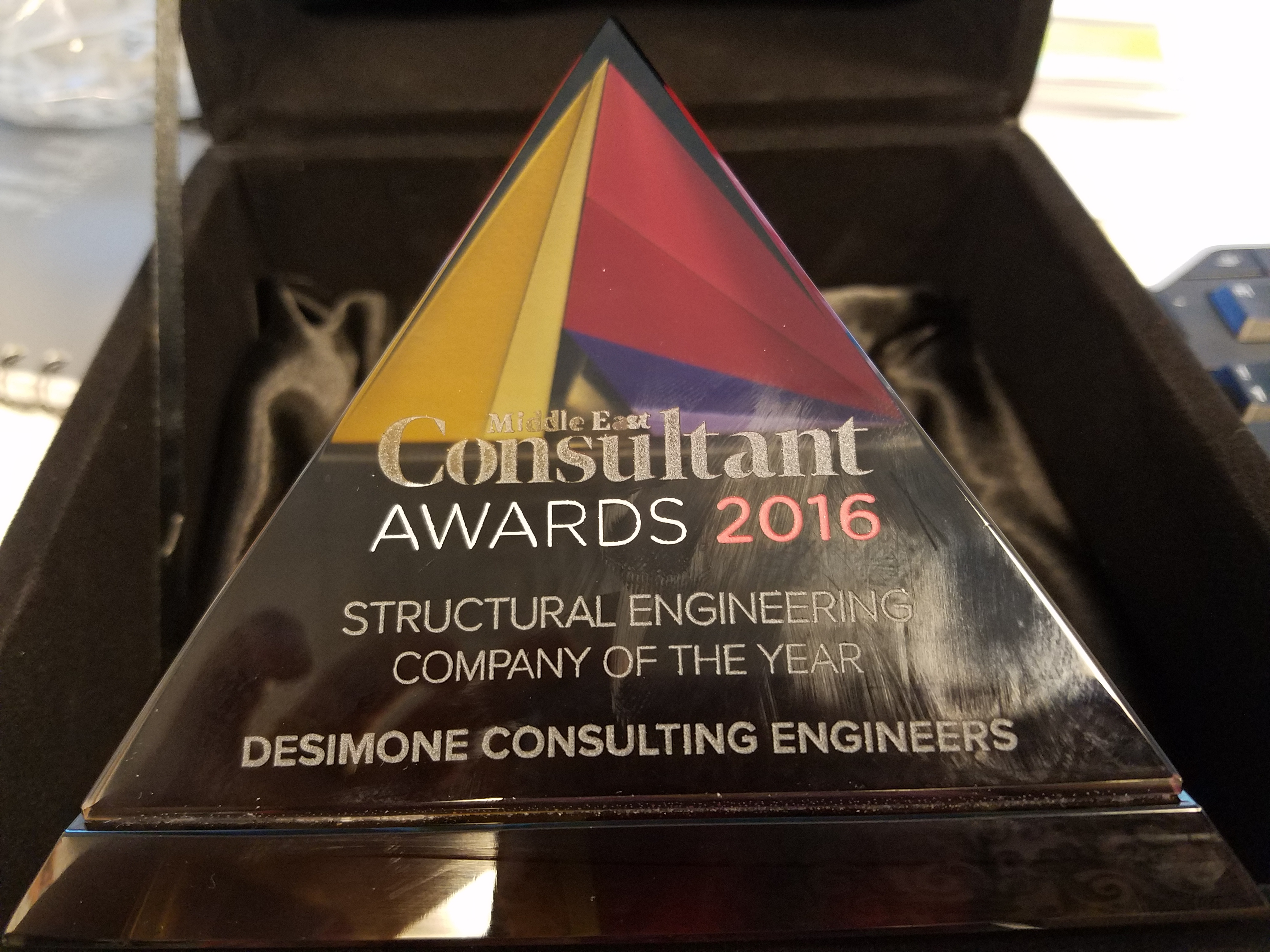Desimone awarded structural engineering company of the year for Designer east architectural engineering design consultants company