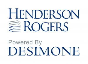 Henderson Rogers, powered by DeSimone logo