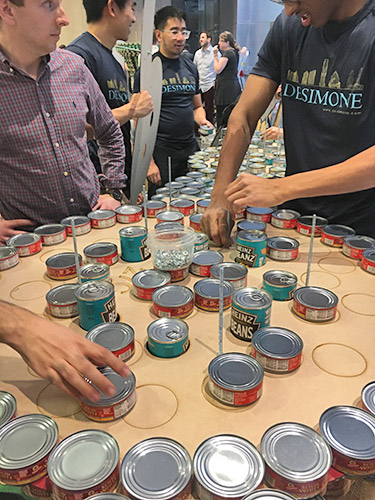 DeSimone Consulting Engineers Canstruction 2019