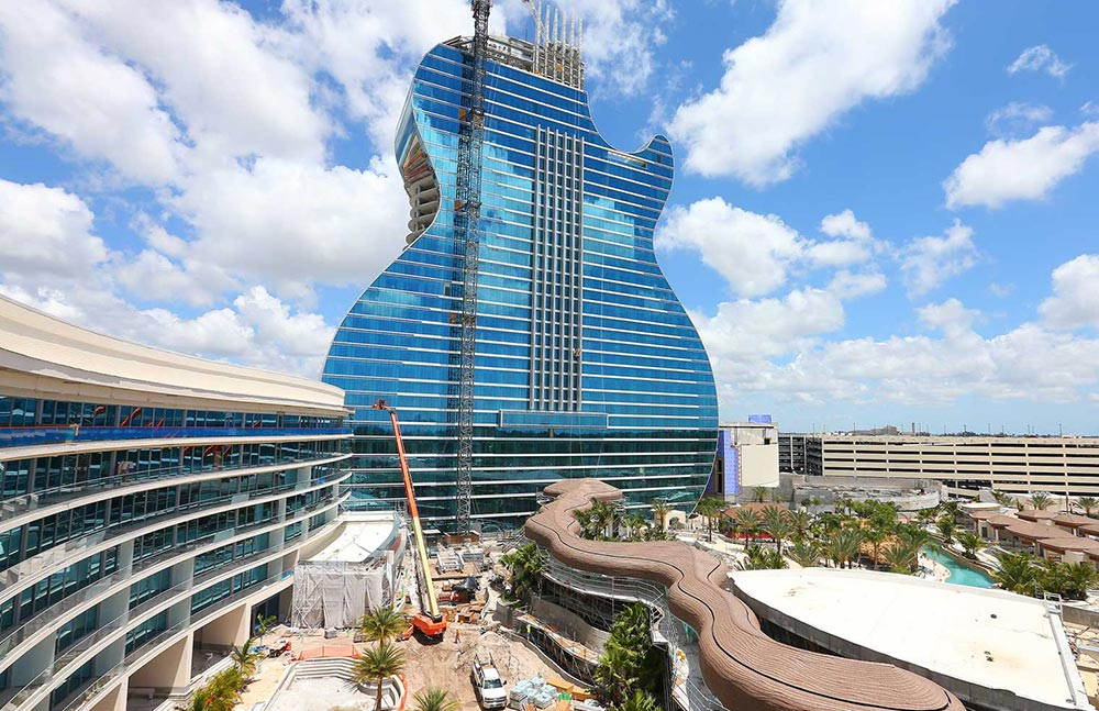 Seminole Hard Rock Hollywood Guitar Tower - DeSimone Consulting Engineers