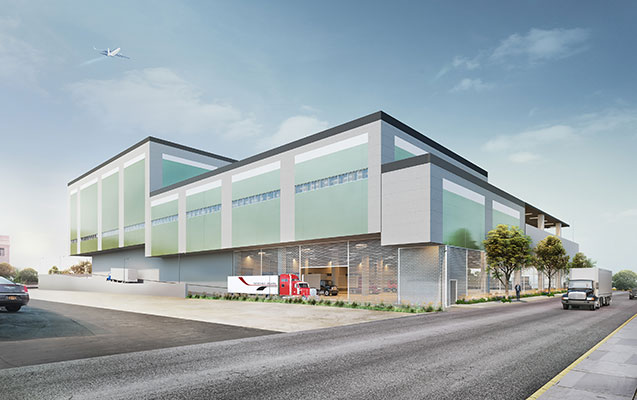 Terminal Logistics Center Rendering - DeSimone Consulting Engineers