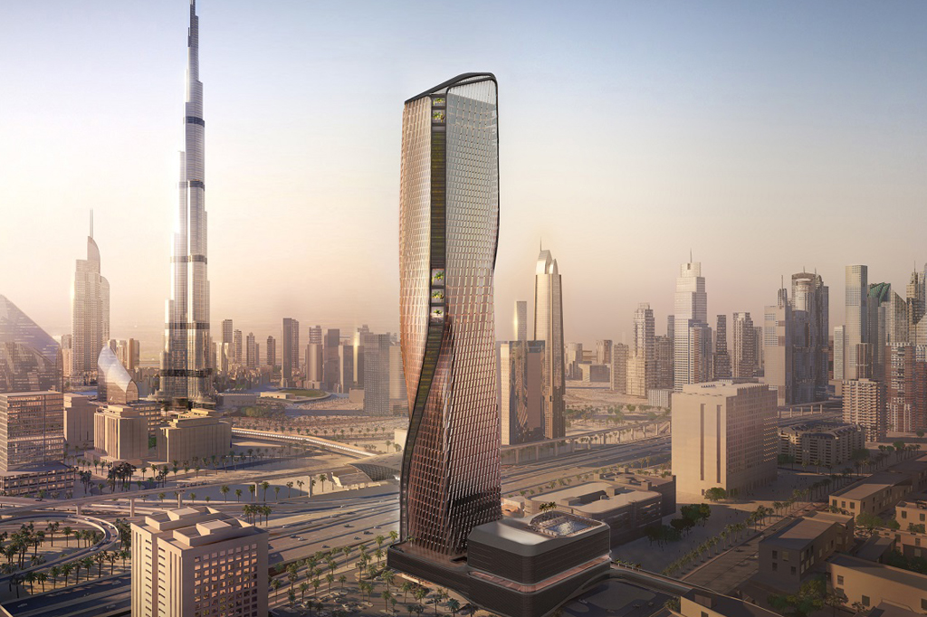 Dubai S Wasl Tower Is Clad With The World S Tallest