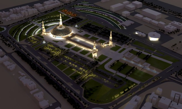 Al Ain Grand Mosque at Night