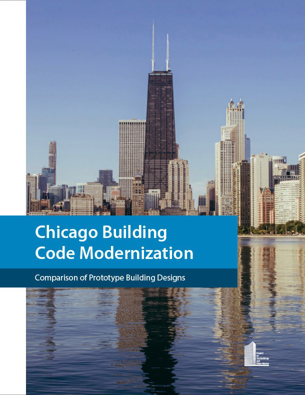 Cover of Chicago Building Code Modernization, a research paper by members of DeSimone's Chicago Team
