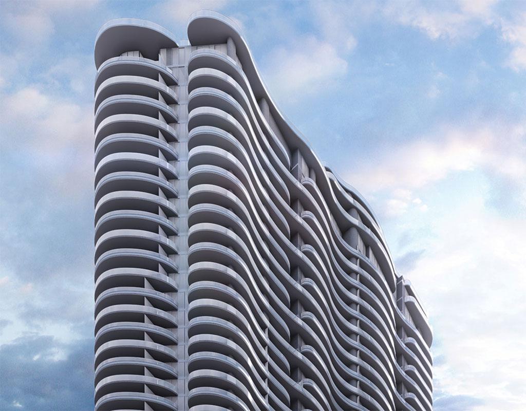 Artist's rendering of Brickell Flatiron in Miami